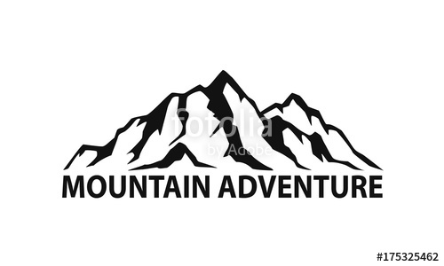 500x300 Mountain Range Symbol Silhouette Stock Image And Royalty Free