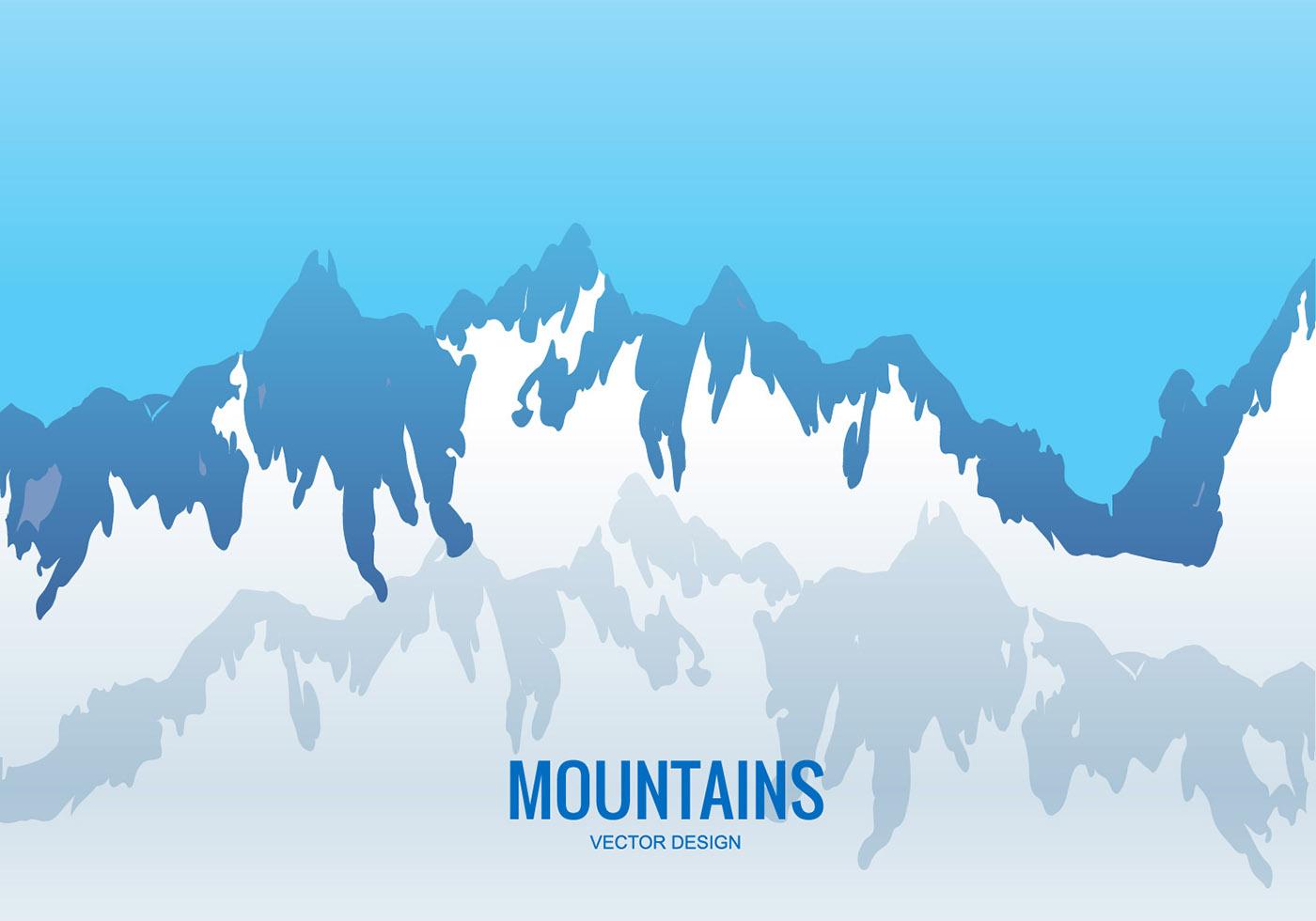 1400x980 Mountain Range Vector