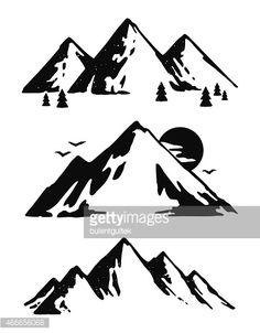 Mountain Range Vector Art