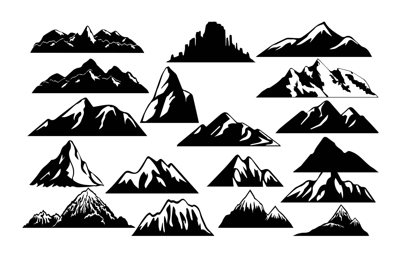 3000x2000 Mountain Clipart Mountain Silhouette Mountain Svg Etsy