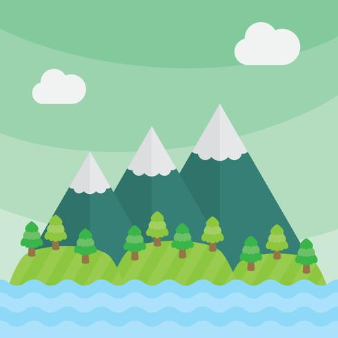 490x490 Mountain Vector Landscape