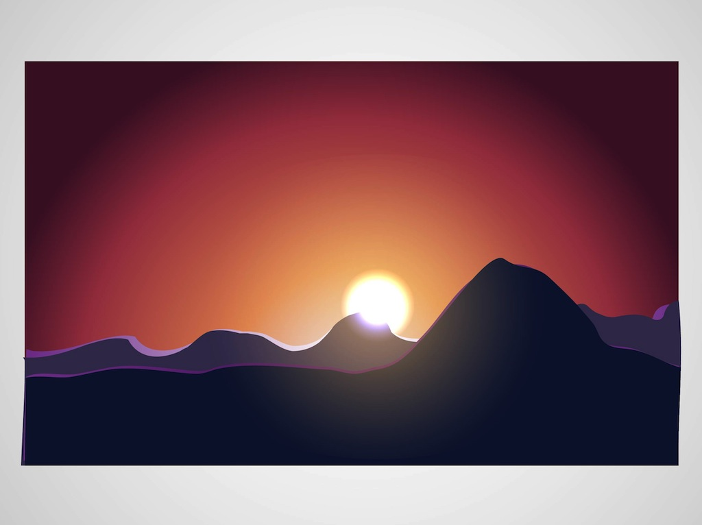 1024x766 Sunrise Vector Vector Art Amp Graphics