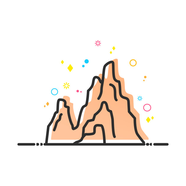 630x630 Big Thunder Mountain Theme Park Ride Vector Artwork