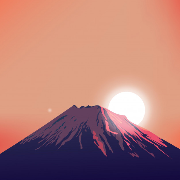 626x626 Evening Mountain Vector Art Vector Premium Download