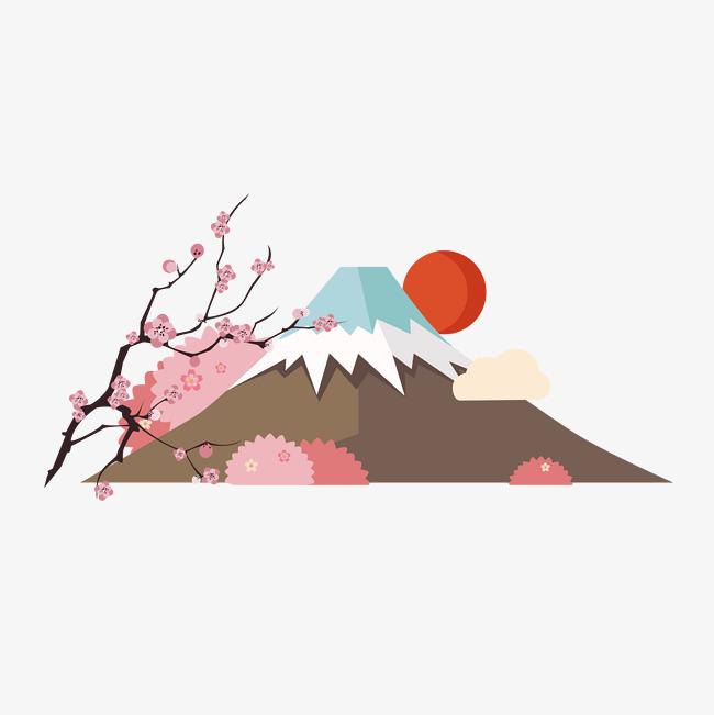 650x651 Japanese Mountain Download, Mountain Vector, Japan, Mountain Png