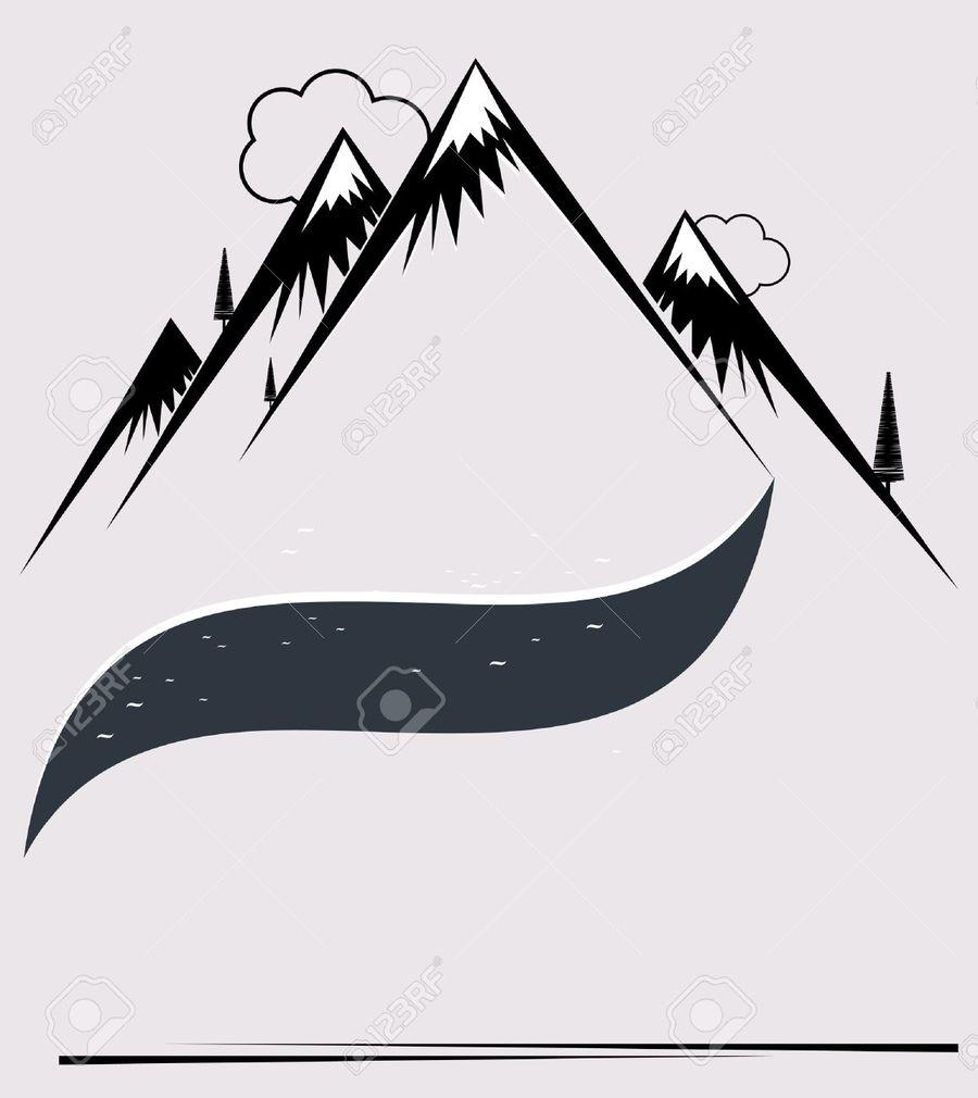 900x1010 Download Ski Mountain Vector Clipart Drawing Ski Resort Drawing