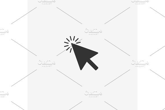 580x386 Abstract Mouse Cursor Vector Icon Mice, Icons And Flat Style