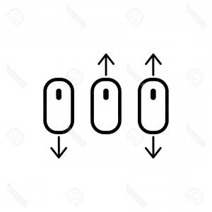 300x300 Scroll Down Computer Mouse Icon Vector Orangiausa