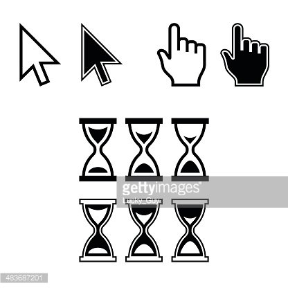 416x416 Cursor Mouse Pointer Vector Premium Clipart