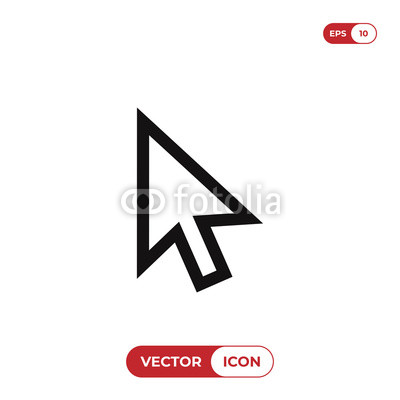 400x400 Cursor Vector Icon. Mouse, Pointer, Click Symbol Buy Photos Ap