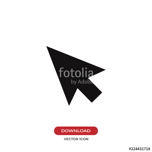 500x500 Cursor Vector Icon. Mouse, Pointer, Click Symbol Stock Image And