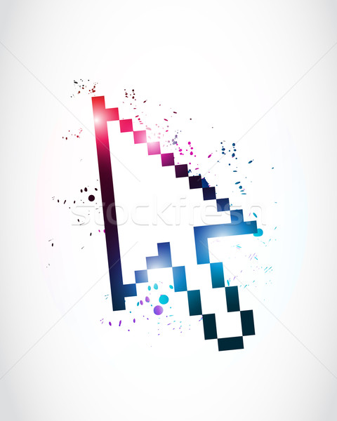 480x600 Abstract Mouse Cursor Pointer Vector Illustration Burak