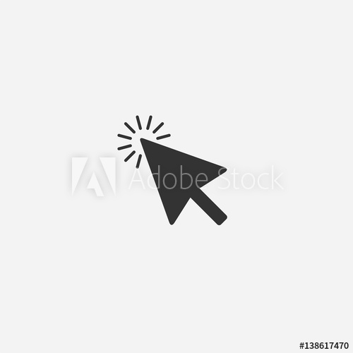 500x500 Abstract Mouse Cursor Vector Icon