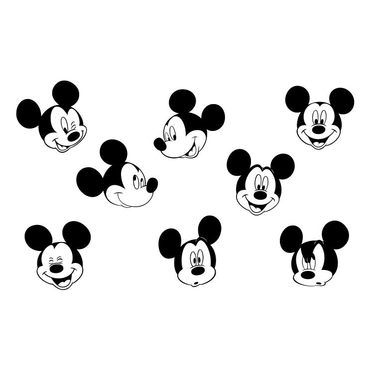 745x745 Mickey Mouse 4 Free Vector 4vector