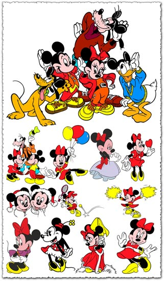 321x550 Minnie Mouse Vector Cartoons