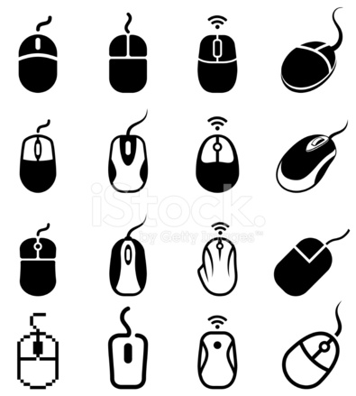 395x439 Computer Mouse Black And White Royalty Free Vector Icon Set Stock
