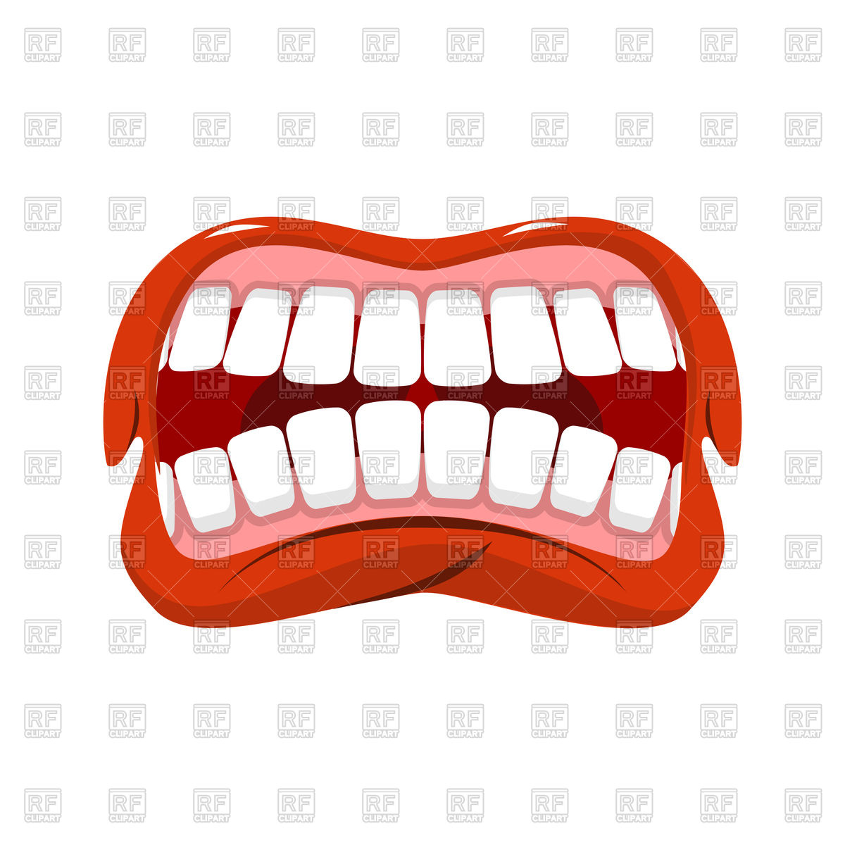 1200x1200 Angry Mouth Vector Image Vector Artwork Of Icons And Emblems