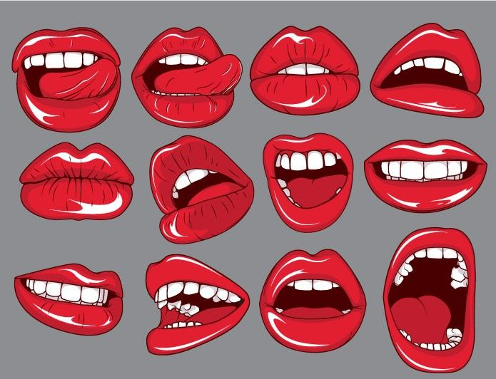 695x532 Lips Vector Pack 2 Vector Lips Royalty Free Lips Vector