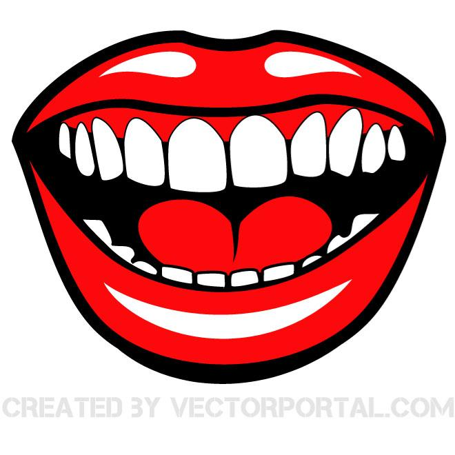 660x660 Smiling Mouth Vector Clip Art