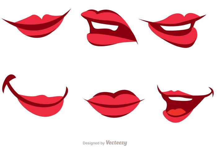 700x490 Girl Cartoon Mouth Vector Pack