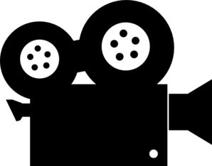 298x234 Movie Camera Clip Art