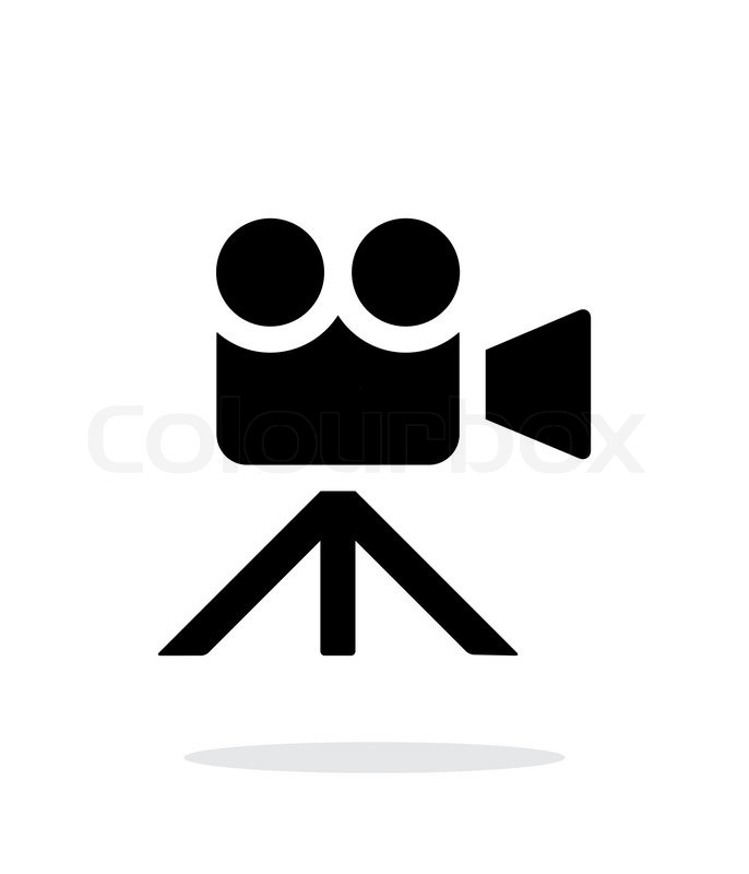 686x800 Movie Camera Simple Icon On White Background. Vector Illustration