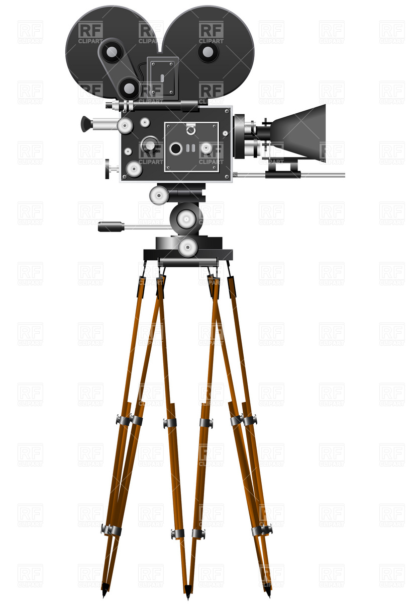 814x1200 Retro Movie Camera Vector Image Vector Artwork Of Technology