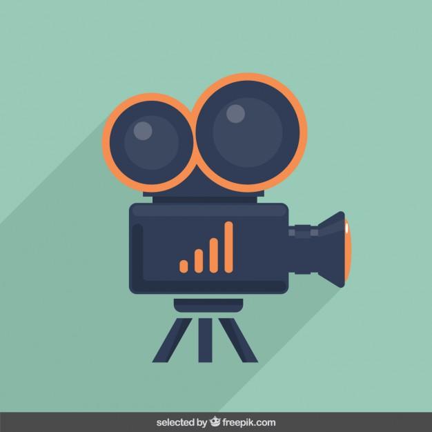 626x626 Video Camera Illustration Vector Free Download
