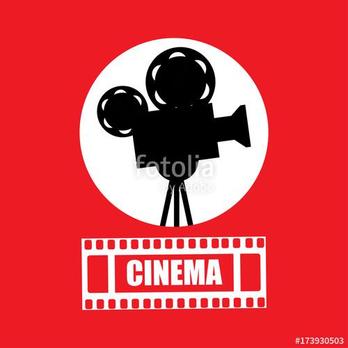 500x500 Cinema, Movie Ticket, Movie Camera.vector Stock Image And Royalty