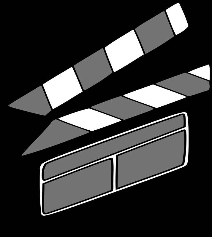 714x800 Film Clapper Vector Clipart Image