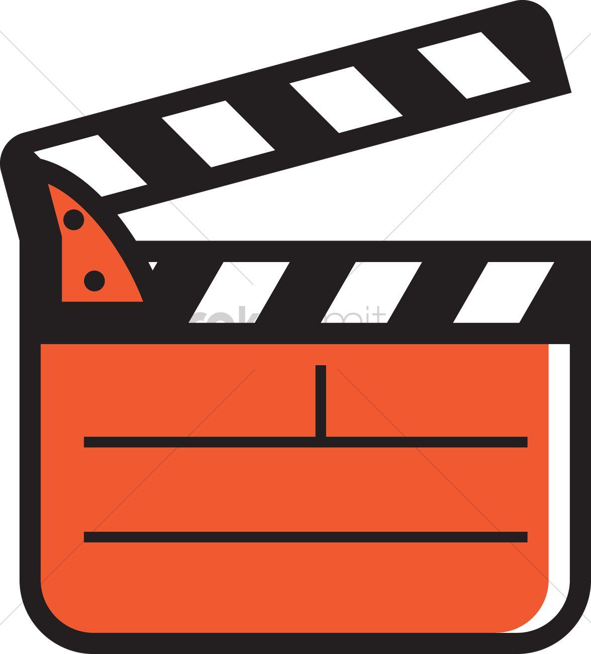 1176x1300 Film Clapboard Vector Image