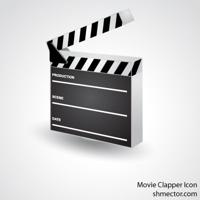400x400 Free Vector Movie Clapper Icon Clipart And Vector Graphics