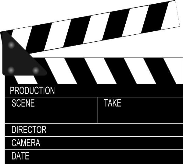 600x539 Movie Clapper Board Clip Art Free Vector In Open Office Drawing