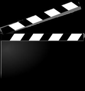 279x298 Movie Clapper Clip Art