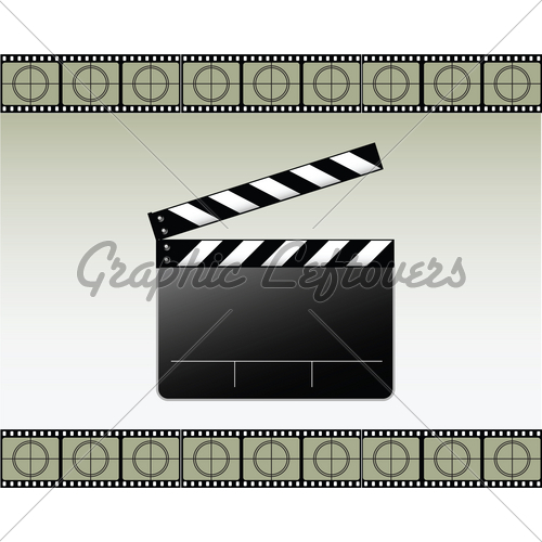 500x500 Movie Clapper Vector Gl Stock Images
