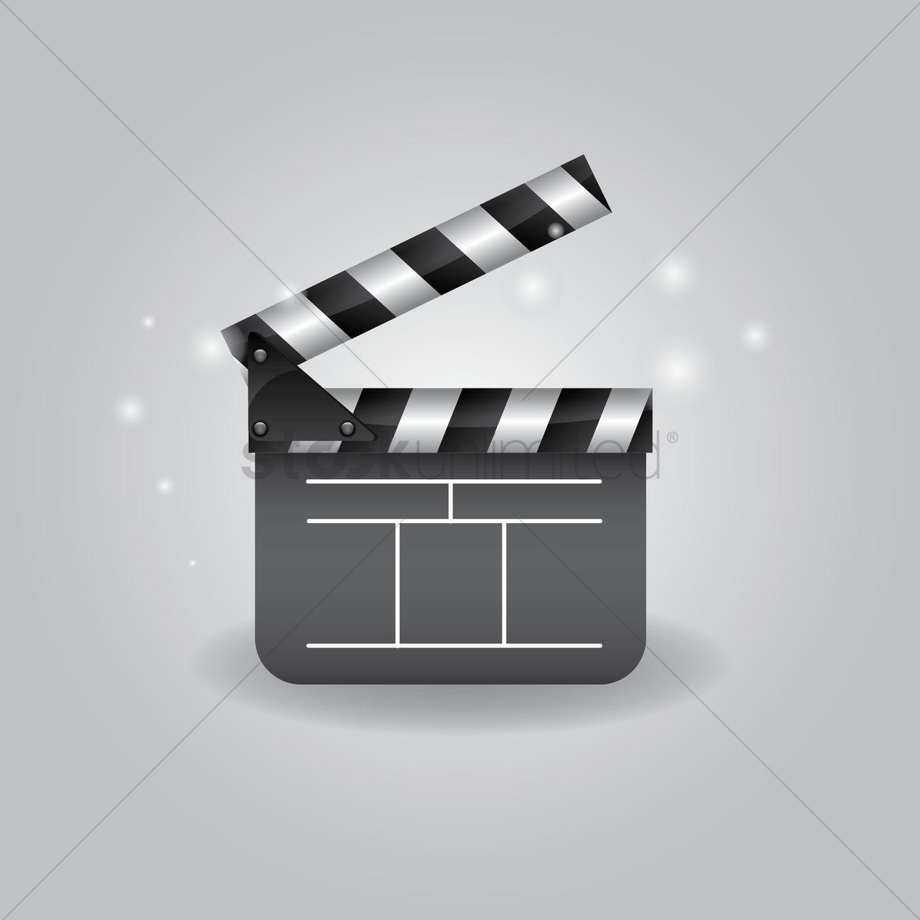 1300x1300 Movie Clapper Vector Image