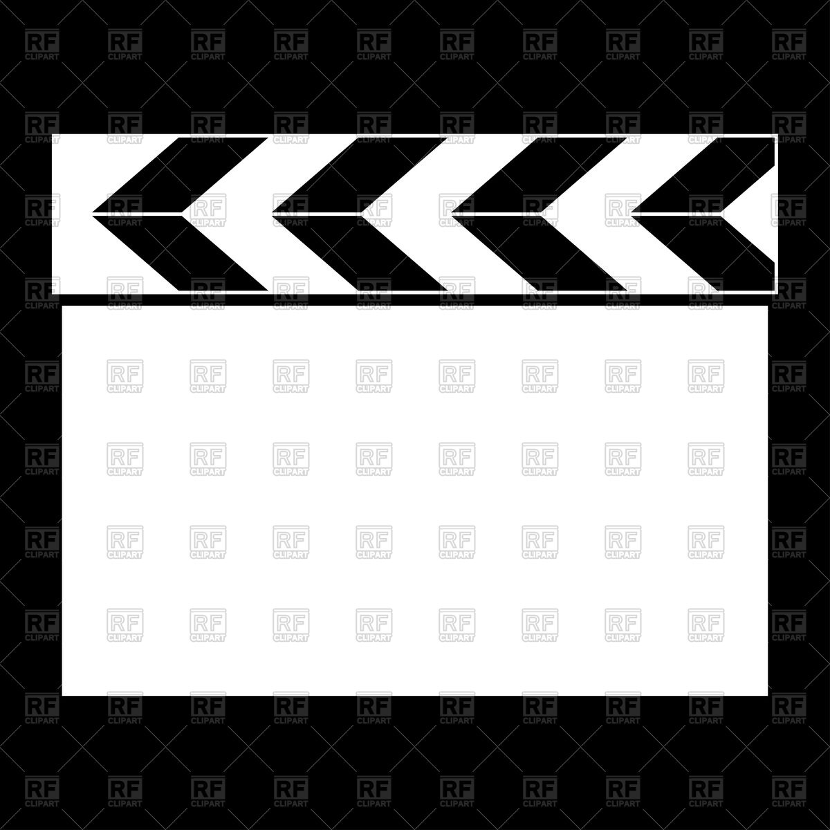 1200x1200 Cinema Clapper Vector Image Vector Artwork Of Objects