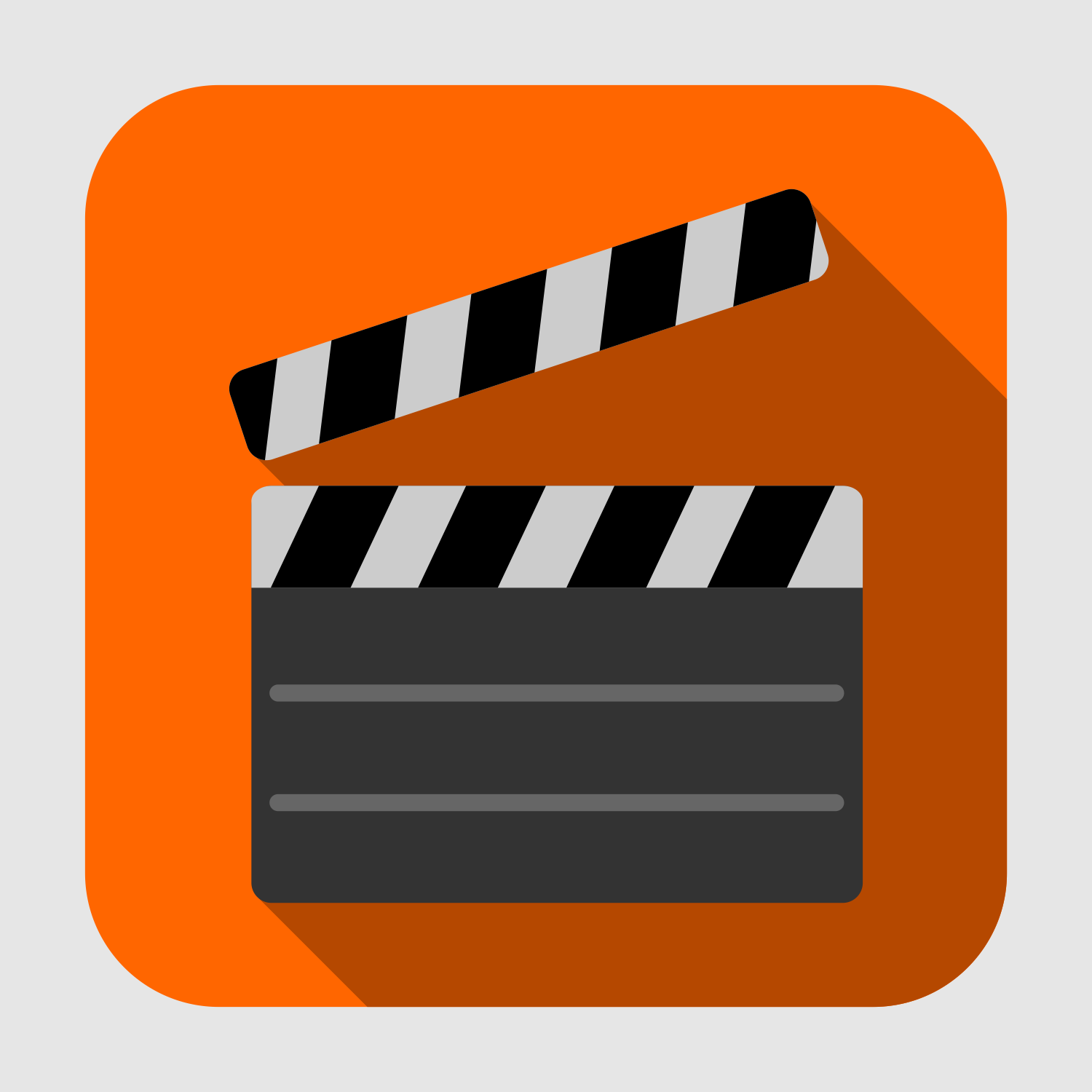 1500x1500 Vector For Free Use Flat Movie Clapper Icon