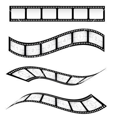 380x400 Film Reel Vector Movie Night Party Film Reels