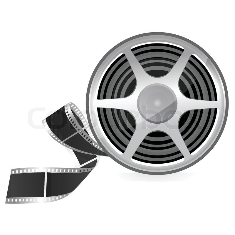 800x800 Illustration Of Film Roll On Isolated Background Stock Vector