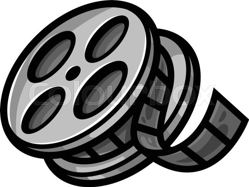 800x601 Movie Theater Cinema Film Reel Unspooling Stock Vector Colourbox