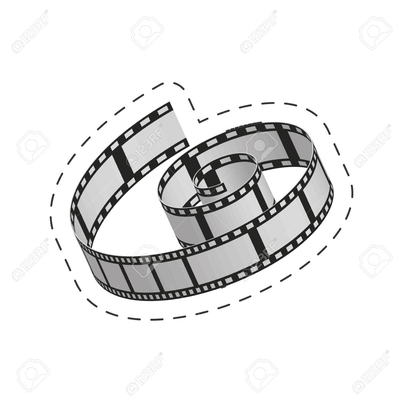 1300x1300 Movie Clipart Roll Vector