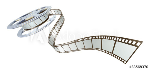 500x234 Movie Film Spooling Out Of Film Reel