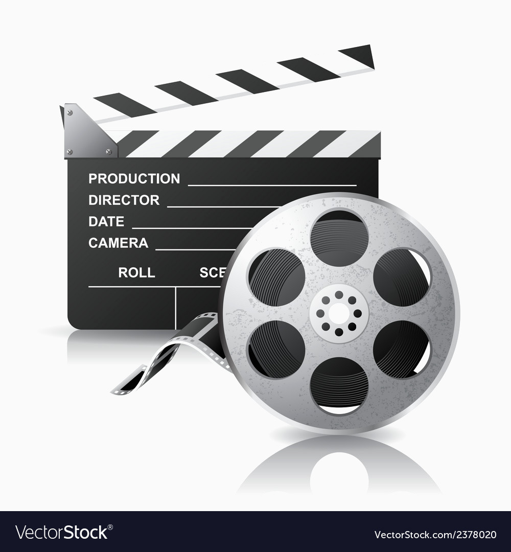 1000x1080 Film Reel Vector Inspirational Movie Clapper And Film Reel Royalty