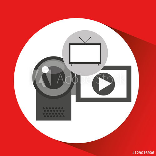 500x500 Screen Tv Movie Camcorder Film Vector Illustration Eps 10