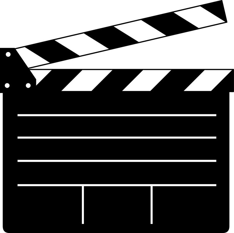 800x797 Clapper Board Vector For Movie Or Film