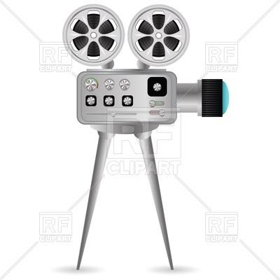 400x400 Movie Projector With Film Reel Vector Image Vector Artwork Of