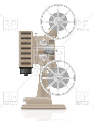 311x400 Retro Movie Projector Vector Image Vector Artwork Of Objects