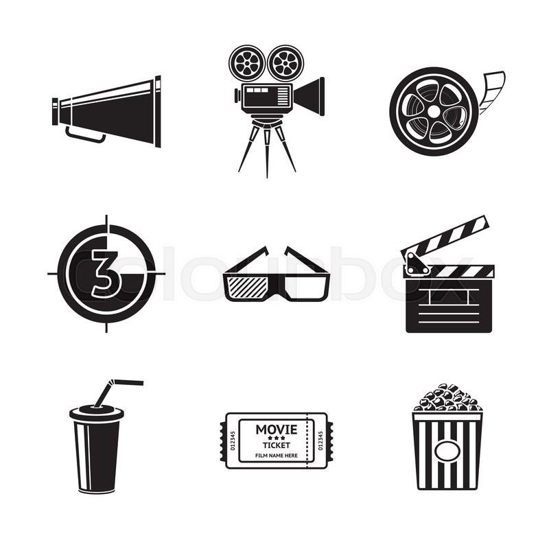 800x800 Cinema, Movie Icons Set