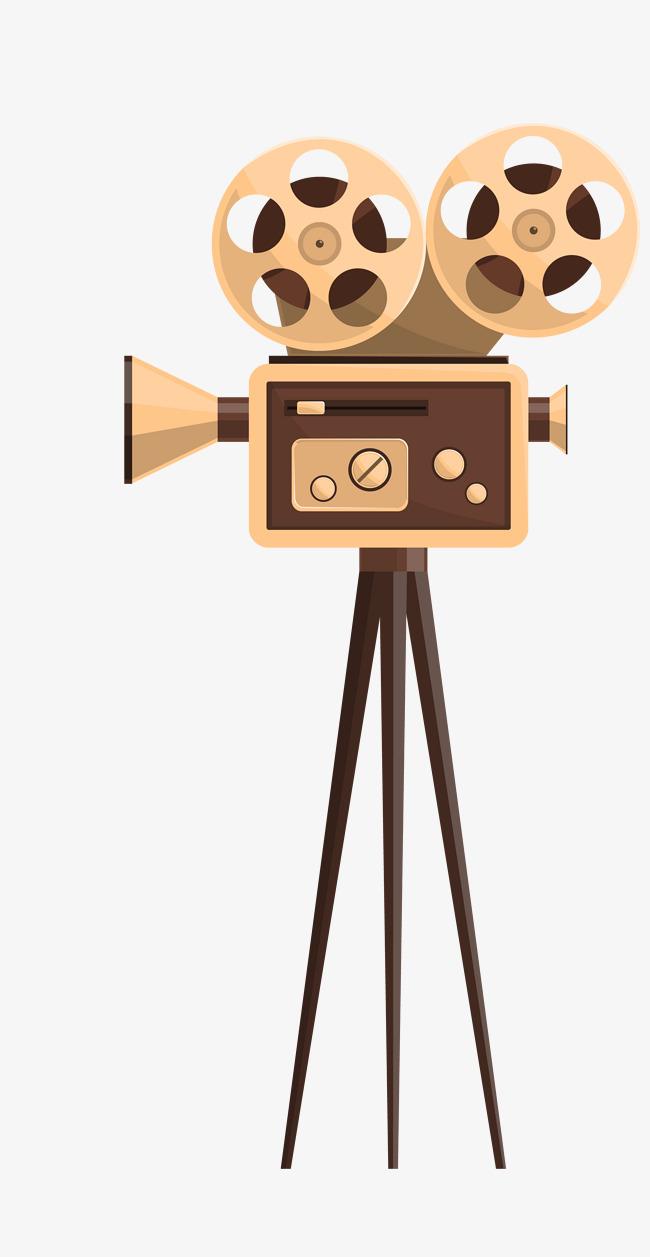 650x1257 Vector Yellow Retro Old Shanghai Movie Projector, Retro Vector